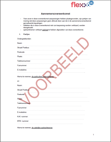 Voorbeelddocument kluscontract